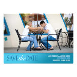 Save the Date Photo Modern Flat Card Personalised Announcements