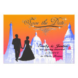 SAVE THE DATE PHOTO WITH VIEW OF PARIS, FRANCE PHOTO PRINT