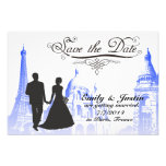 SAVE THE DATE PHOTO WITH VIEW OF PARIS, FRANCE PHOTOGRAPH