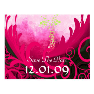 Save the Date Pink Yarrow Cala Lily Postcard