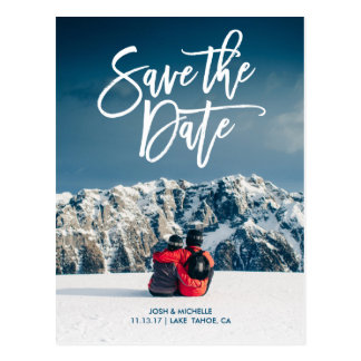 Save the date postcard script wedding collection