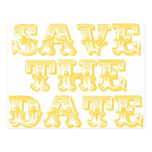 Save the Date Postcards in Yellow