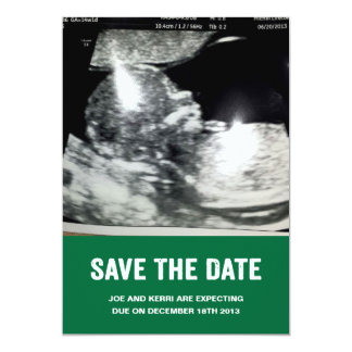 Save the Date Pregnancy Announcement