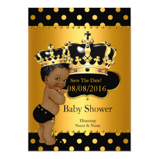 Save The Date Prince Baby Shower Ethnic 13 Cm X 18 Cm Invitation Card