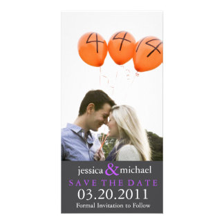 Save the Date | Purple Photo Greeting Card