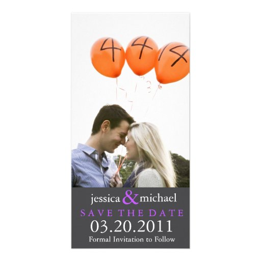 Save the Date | Purple Photo Cards