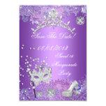 Save The Date Purple Sweet  Sixteen 16 Masquerade Custom Invite