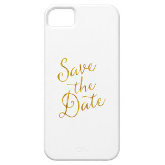 Save The Date Quote Gold Faux Foil Engagement Barely There iPhone 5 Case