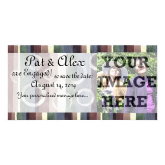 Save the Date - Rainbow 3 Photo Card Template