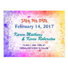 Save the Date Rainbow Sunshine Postcard