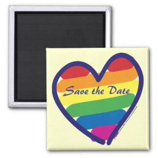 Save the Date/Rainbow Wedding/Gay Pride Refrigerator Magnets