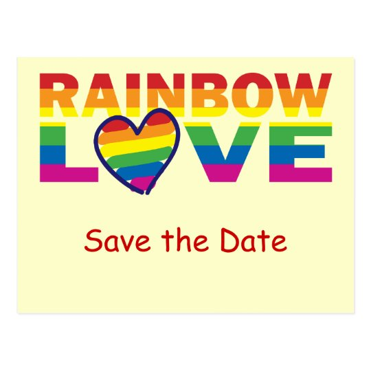 Save the Date/Rainbow Wedding/Gay Pride Postcard