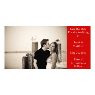 Save the date - red picture card
