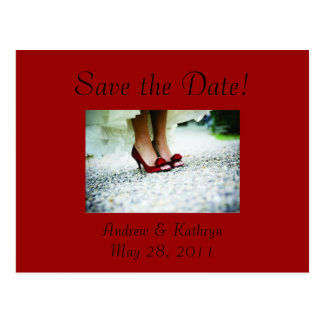 Save the Date, Red Postcard