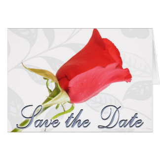Save the Date - Red Rose Greeting Card