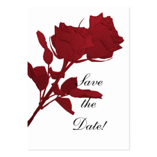Save the Date - Red Roses Business Card Template