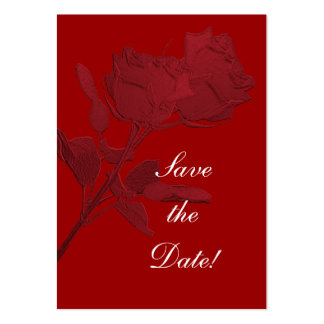 Save the Date - Red Roses Business Card Templates