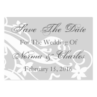 Save The Date Reminder Wedding Day Invitation Card Pack Of Chubby Business Cards