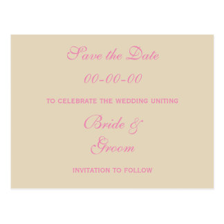 Save the Date Romantic Ornamental Save the Date Postcard