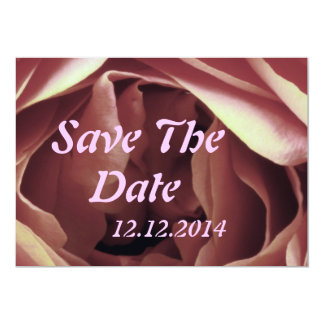 "Save The Date Rose Bud 5"" X 7"" Invitation Card"