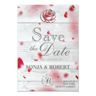 Save the Date - Rose Petals Card