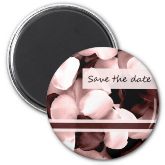 save the date rose petals refrigerator magnet