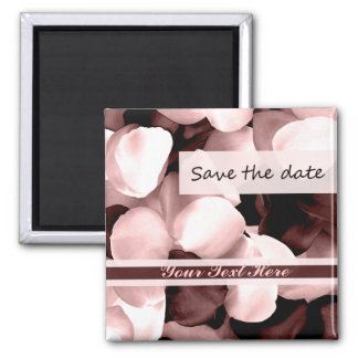 save the date rose petals magnets