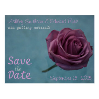 Save the Date - Rose Postcard