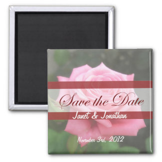 Save the date Roses Square Magnet