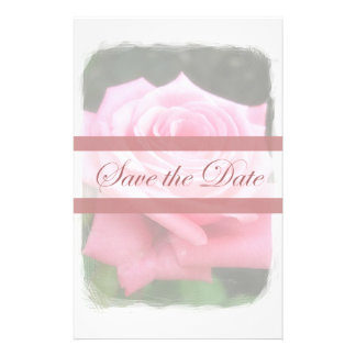 Save the date Roses Personalized Stationery
