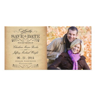 Save the Date Rustic Vintage Weddings Personalized Photo Card