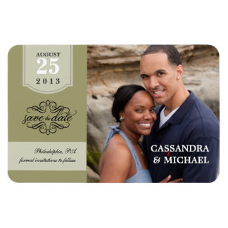 Save the Date - Sage Custom Photo Magnets