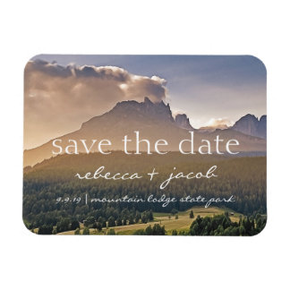 Save the Date/ Save Our Date Rustic Wedding Rectangular Photo Magnet
