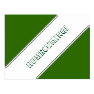 Save the Date School Colors - Green Plus Postcard