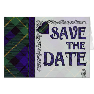 Save the Date - Scottish Tartan - Barclay Blank Greeting Card