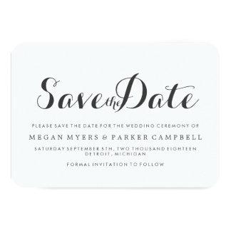 Save the Date | Simplistic Mod 9 Cm X 13 Cm Invitation Card