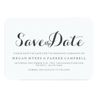 Save the Date | Simplistic Mod Card