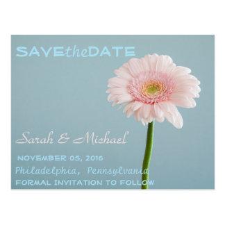 Save the Date Single Flower Postcard