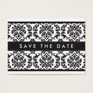 SAVE THE DATE :: small card :: damask - black