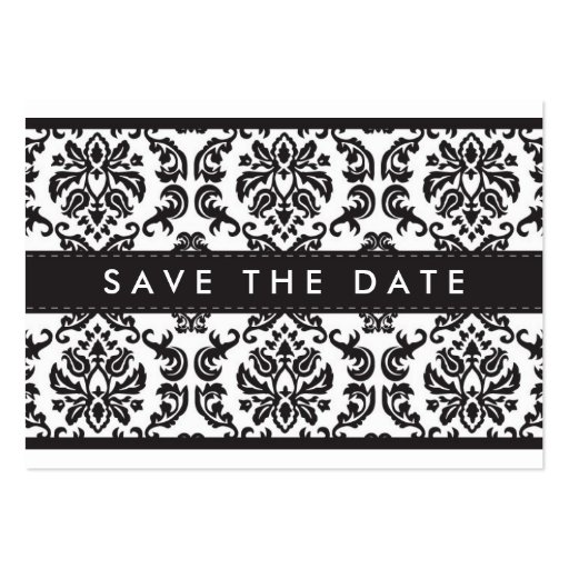 SAVE THE DATE :: small card :: damask - black Business Card Template