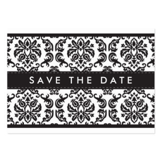 SAVE THE DATE :: small card :: damask - black Pack Of Chubby Business Cards