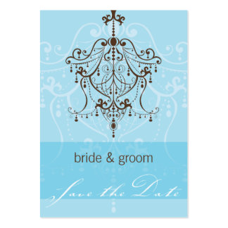 SAVE THE DATE SMALL :: chandelier Business Cards