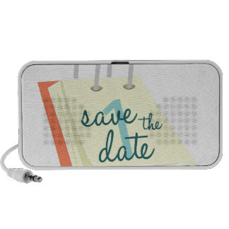 Save The Date Notebook Speakers