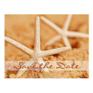 Save the Date Starfish Postcard