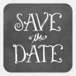 Save the Date Sticker | Black Chalkboard Charm