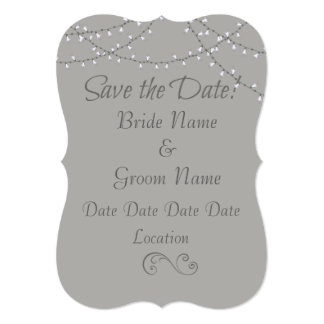 Save the Date string lights Card