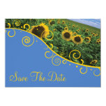 """Save The Date - Sunflowers 5"""" X 7"""" Invitation Card"""