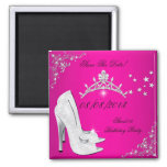 Save The Date Sweet 16 Pink High Heels Shoes Tiara