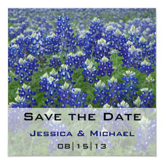 Save the Date Texas Bluebonnets Floral Card