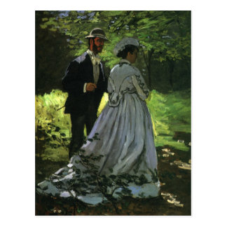 Save the Date! The Promenaders by Monet Postcard